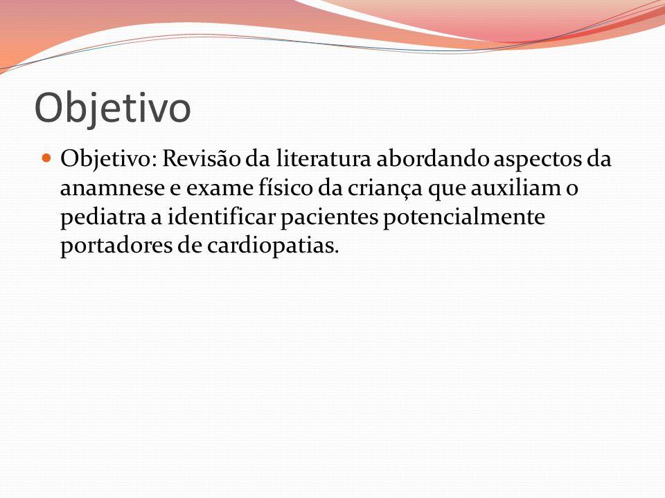 Objetivo Objetivo: Revisão da literatura abordando aspectos da anamnese e exame físico da criança que auxiliam o pediatra a identificar pacientes pote