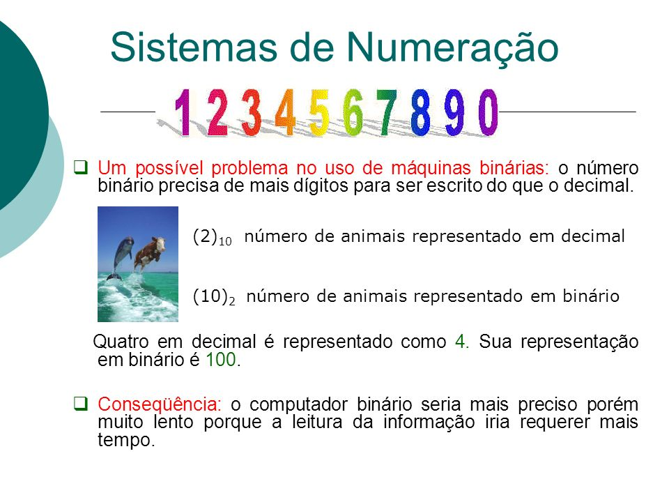 Passagem de uma base 10 para a base R Parte inteira: Algoritmo da divisão repetida Divide-se o inteiro decimal repetidamente pela base R até que se obtenha um quociente inteiro igual a zero.