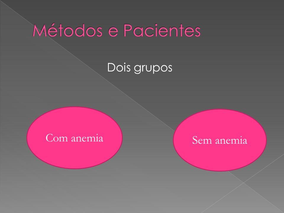 Dois grupos Com anemia Sem anemia