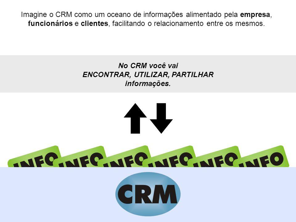 Imagine o CRM como um oceano de informações alimentado pela empresa, funcionários e clientes, facilitando o relacionamento entre os mesmos. No CRM voc