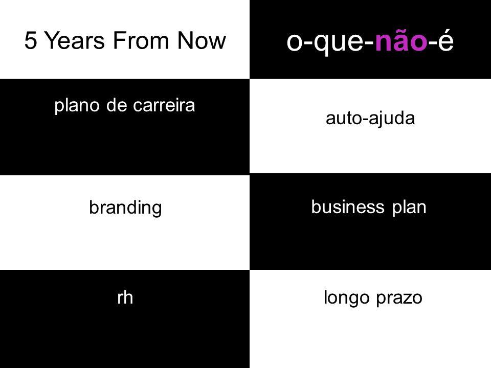 o-que-não-é plano de carreira auto-ajuda branding longo prazo business plan rh