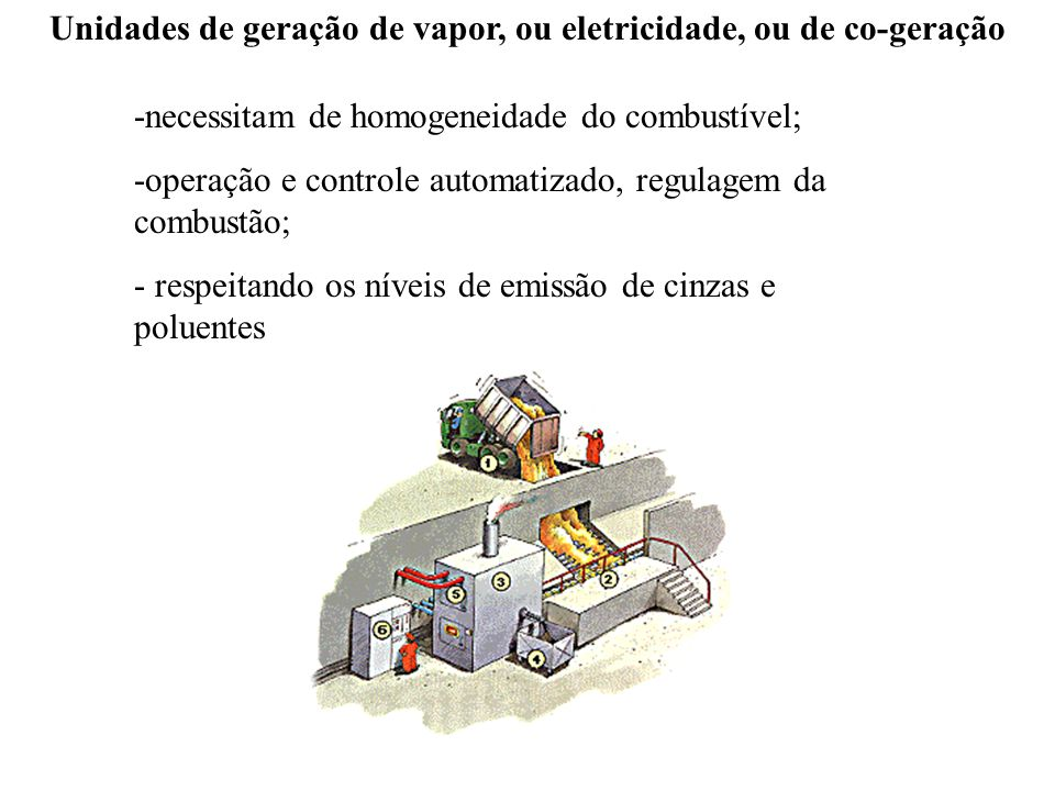 Formas de aproveitamento energético Grupo gerador a vapor -RO Usina termelétrica movida movida com cavacos de madeira – Samuel - RO