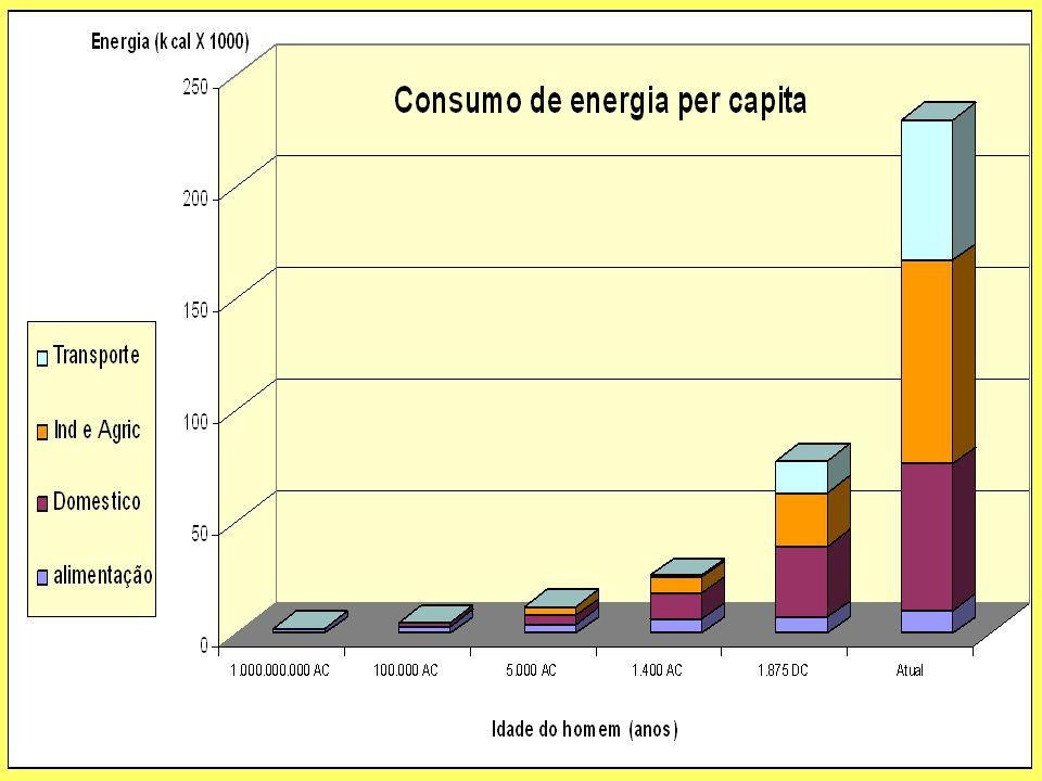 O que aconteceu com o padrão de consumo de energia ? -Mudou drasticamente -e está afetando muito o meio ambiente