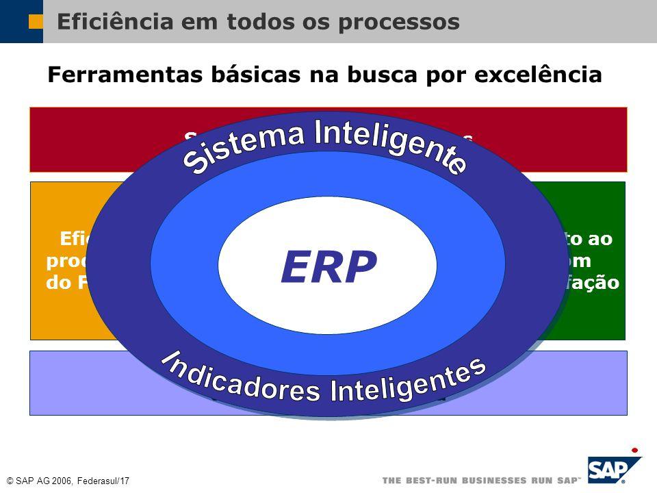 © SAP AG 2006, Federasul/16 Eficiência em todos os processos Ferramentas básicas na busca por excelência