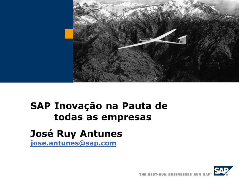 © SAP AG 2006, Federasul/20 A experiência com a SAP A SAP constroi a sua experiência no relacionamento com seus Clientes que são reconhecidos no merca