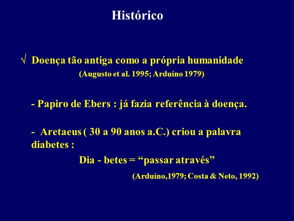Histórico Doença tão antiga como a própria humanidade (Augusto et al. 1995; Arduíno 1979) - Papiro de Ebers : já fazia referência à doença. - Aretaeus