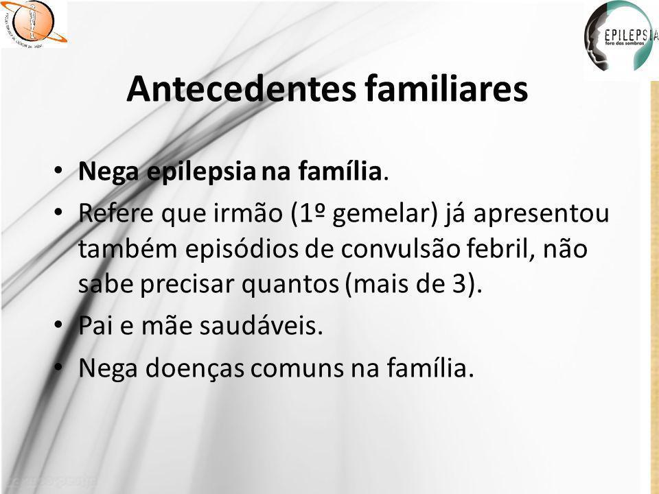 Condições socioeconômicas e hábitos de vida Mora com irmão, mãe e avó materna.