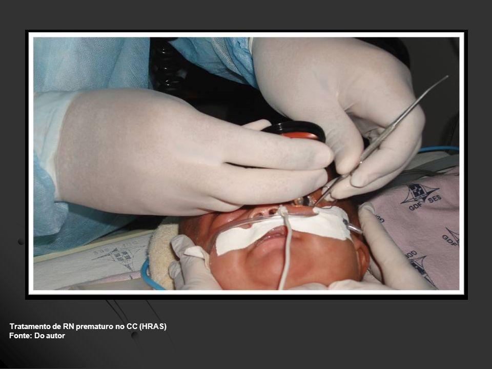 Tratamento de RN prematuro no CC (HRAS) Fonte: Do autor