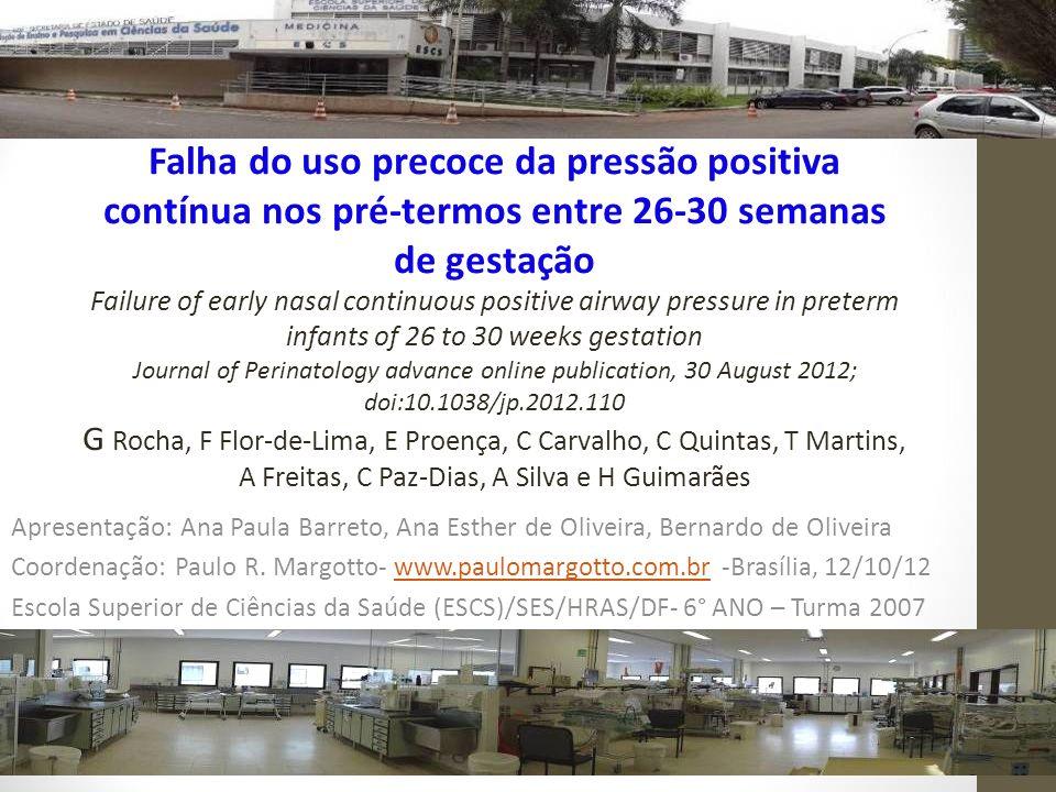 Apresentação: Ana Paula Barreto, Ana Esther de Oliveira, Bernardo de Oliveira Coordenação: Paulo R. Margotto- www.paulomargotto.com.br -Brasília, 12/1