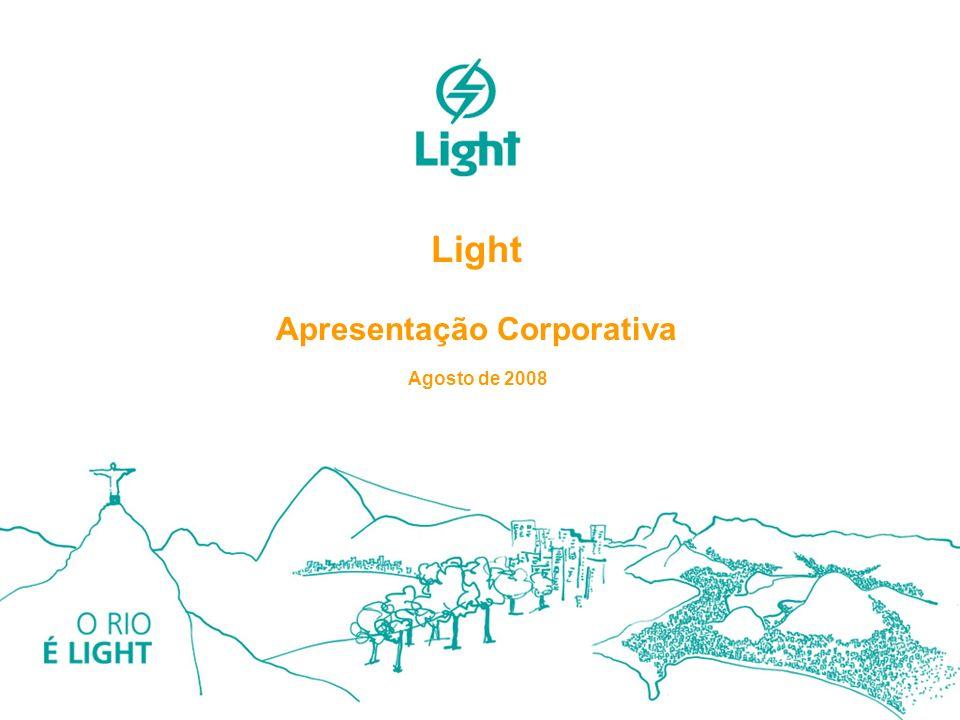 1 Light Apresentação Corporativa Agosto de 2008