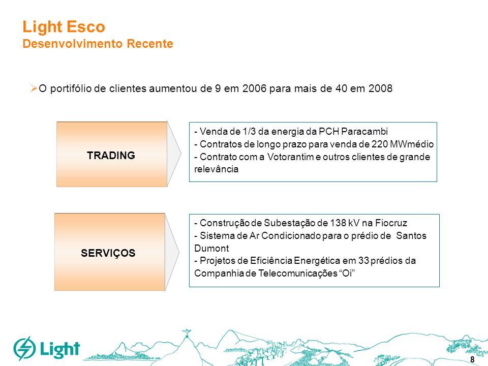 8 Light Esco Desenvolvimento Recente SERVIÇOS TRADING - Construção de Subestação de 138 kV na Fiocruz - Sistema de Ar Condicionado para o prédio de Sa