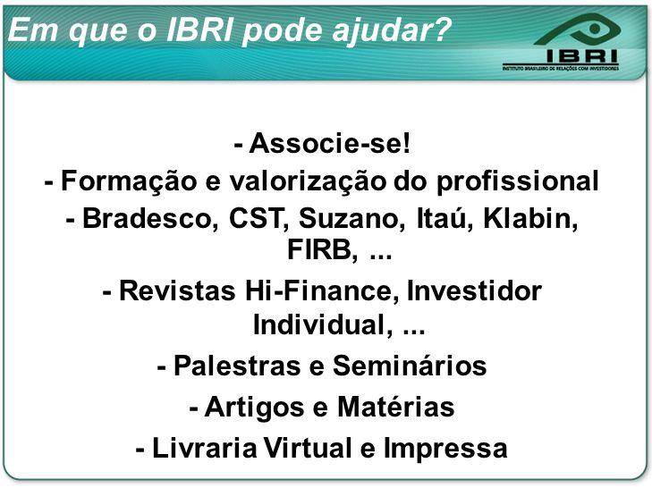 Em que o IBRI pode ajudar. - Associe-se.