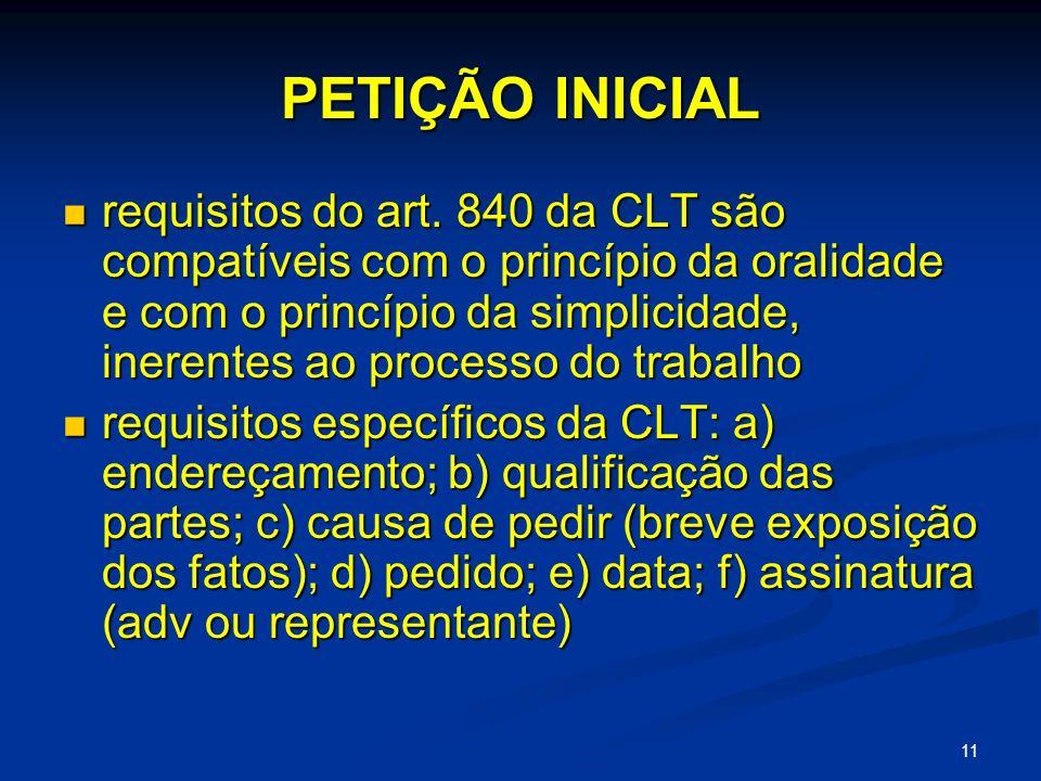 11 PETIÇÃO INICIAL requisitos do art.