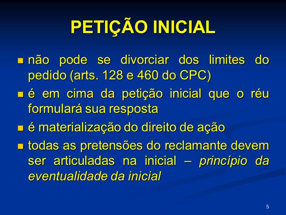 5 PETIÇÃO INICIAL não pode se divorciar dos limites do pedido (arts.