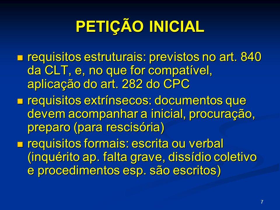 18 PETIÇÃO INICIAL pedido sucessivo: o juiz não pode conhecer do pedido primeiro e passa a analisar o posterior (art.