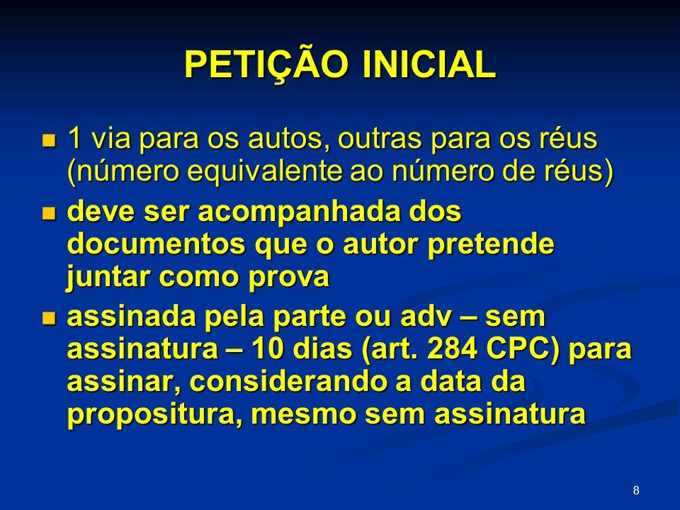 9 PETIÇÃO INICIAL requisitos da inicial: art.840 § 1º da CLT requisitos da inicial: art.
