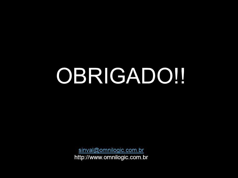 OBRIGADO!! sinval@omnilogic.com.br http://www.omnilogic.com.br