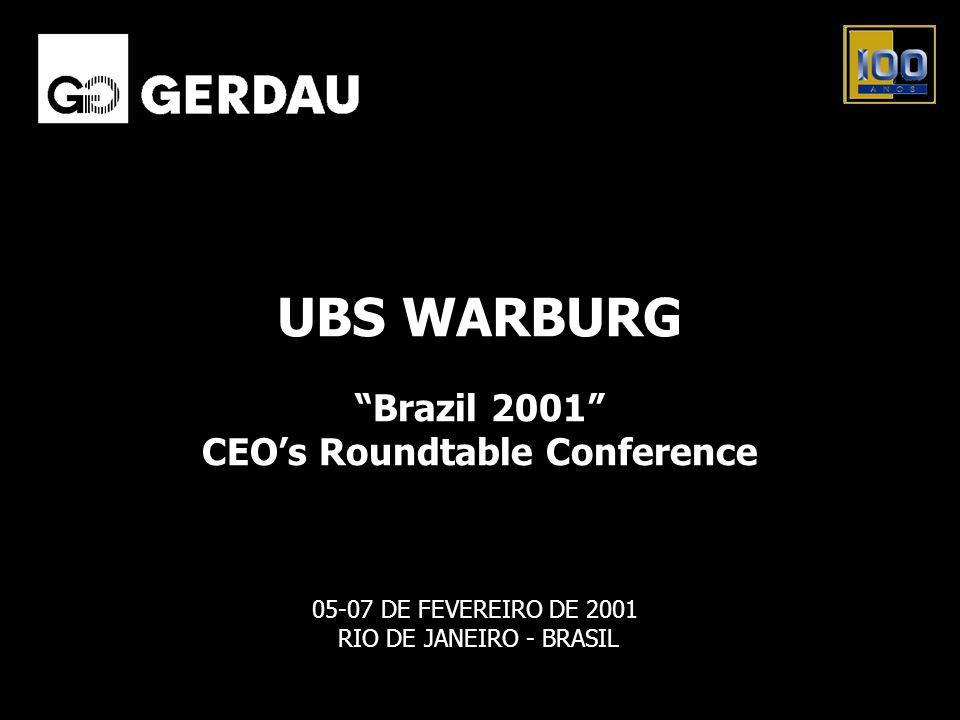 05-07 DE FEVEREIRO DE 2001 RIO DE JANEIRO - BRASIL Brazil 2001 CEOs Roundtable Conference UBS WARBURG