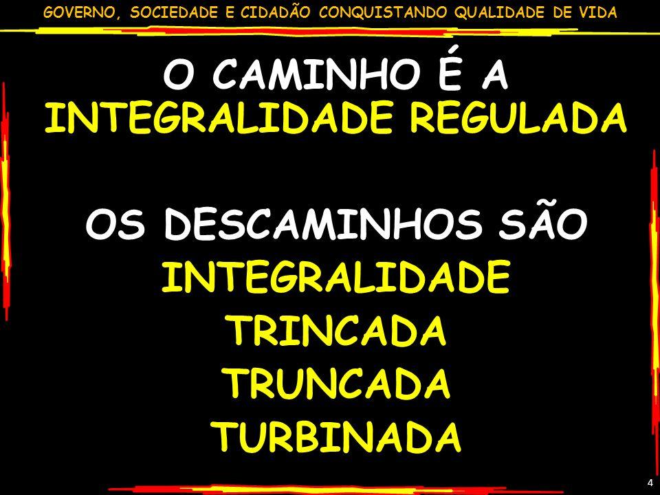 GOVERNO, SOCIEDADE E CIDADÃO CONQUISTANDO QUALIDADE DE VIDA 15