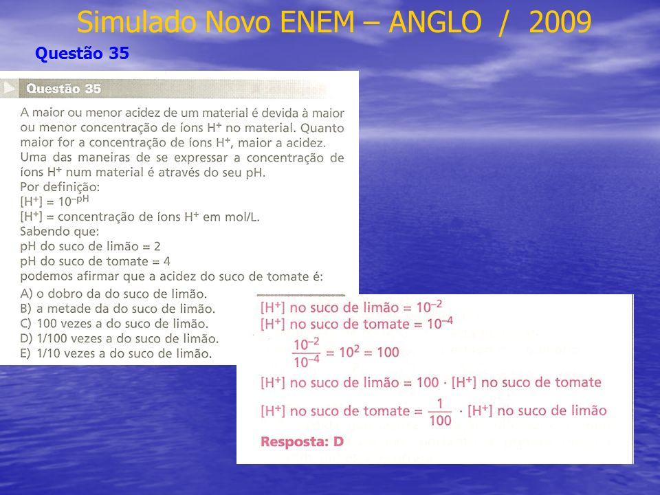 Simulado Novo ENEM – ANGLO / 2009 Questão 35