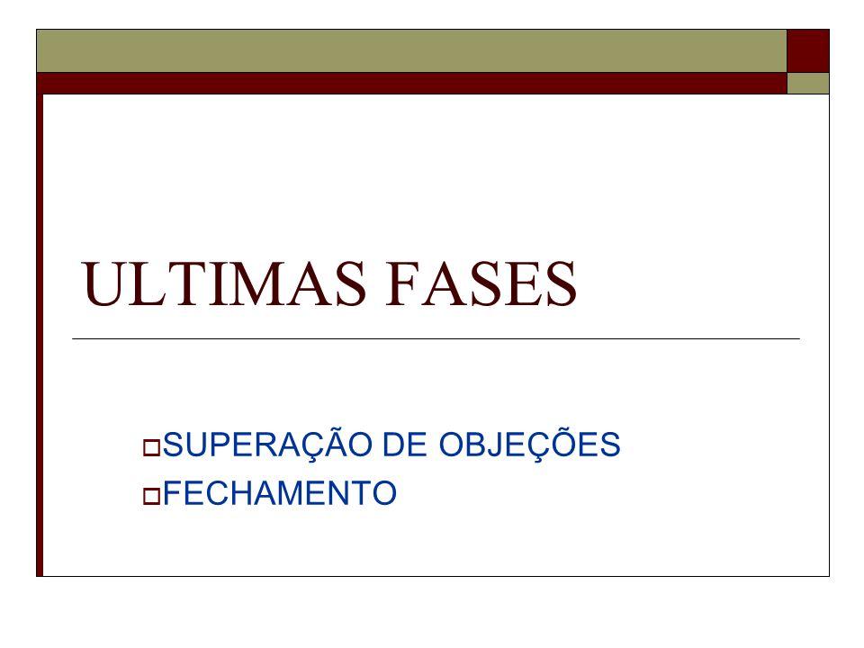 SUPERAÇÃO DE OBJEÇÕES FECHAMENTO ULTIMAS FASES