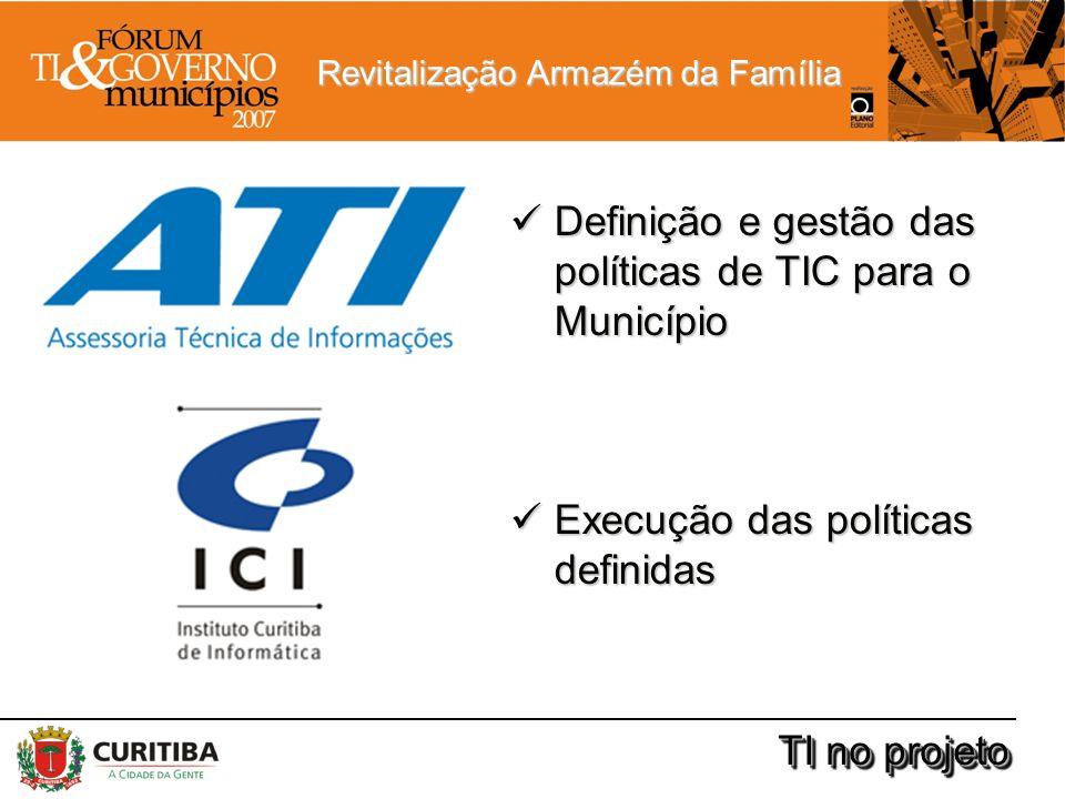 Revitalização Armazém da Família TI no projeto Definição e gestão das políticas de TIC para o Município Definição e gestão das políticas de TIC para o