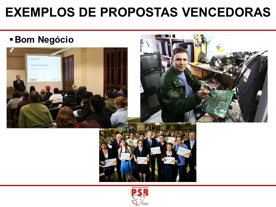 EXEMPLOS DE PROPOSTAS VENCEDORAS Bom Negócio