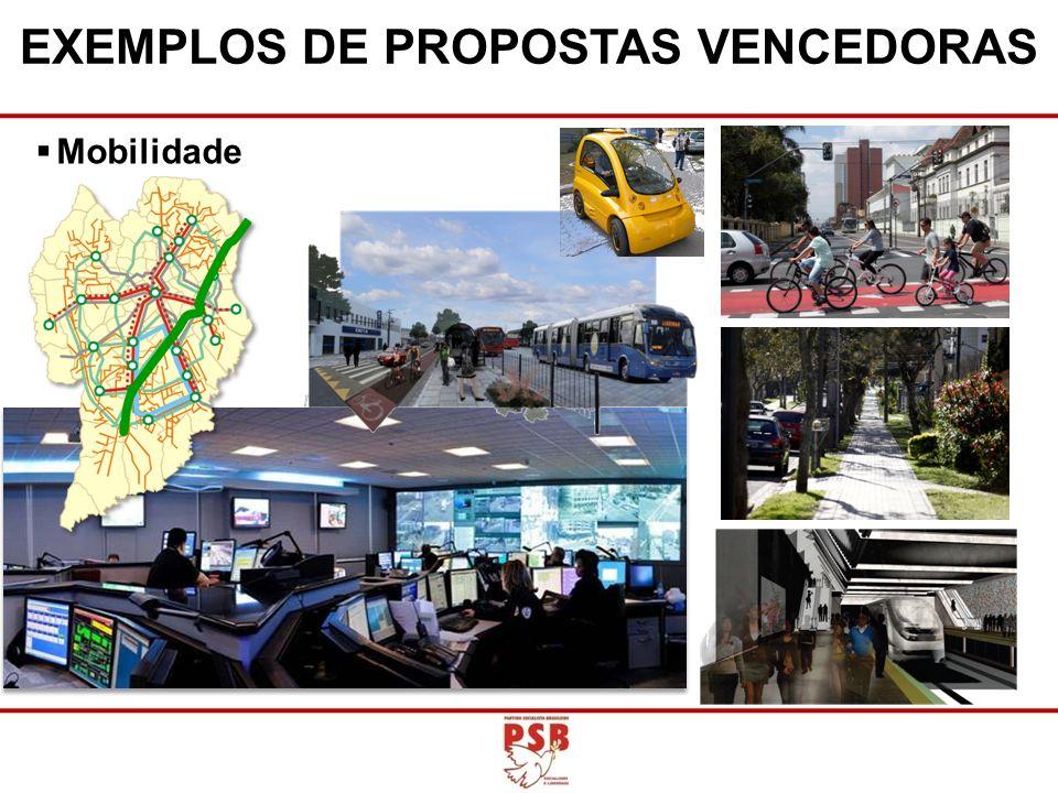 EXEMPLOS DE PROPOSTAS VENCEDORAS Mobilidade