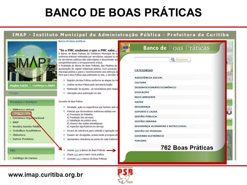 BANCO DE BOAS PRÁTICAS www.imap.curitiba.org.br 762 Boas Práticas