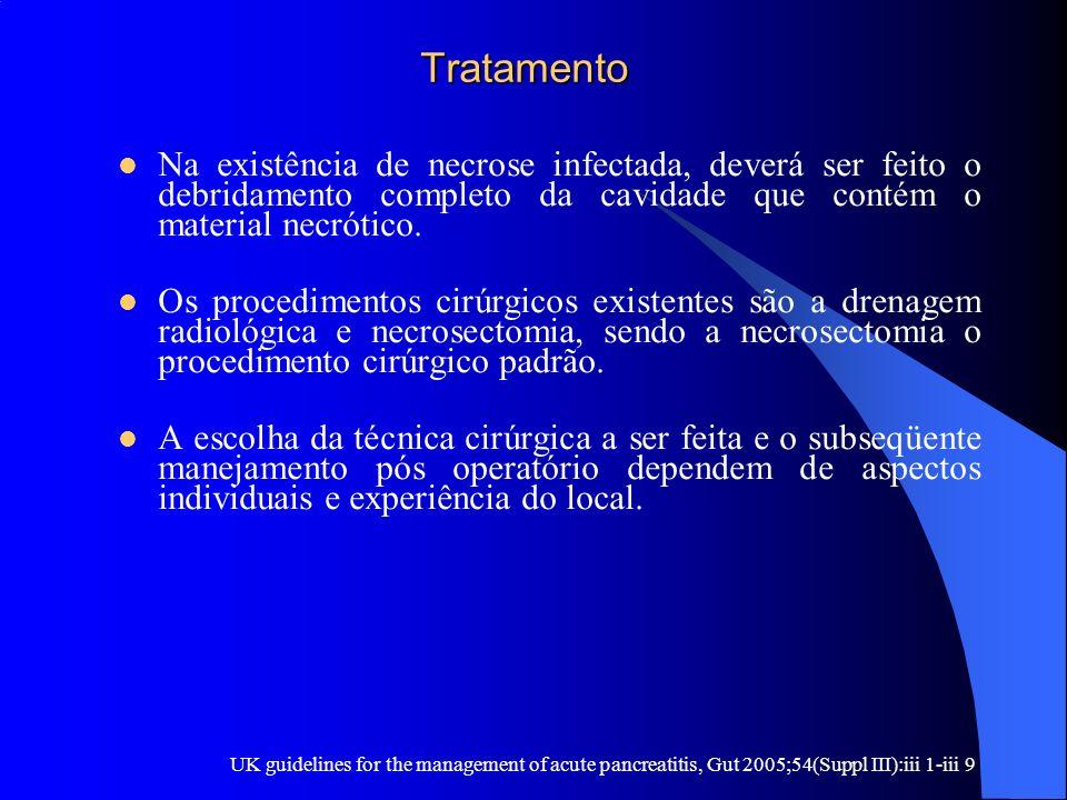 Tratamento Tratamento Na existência de necrose infectada, deverá ser feito o debridamento completo da cavidade que contém o material necrótico. Os pro