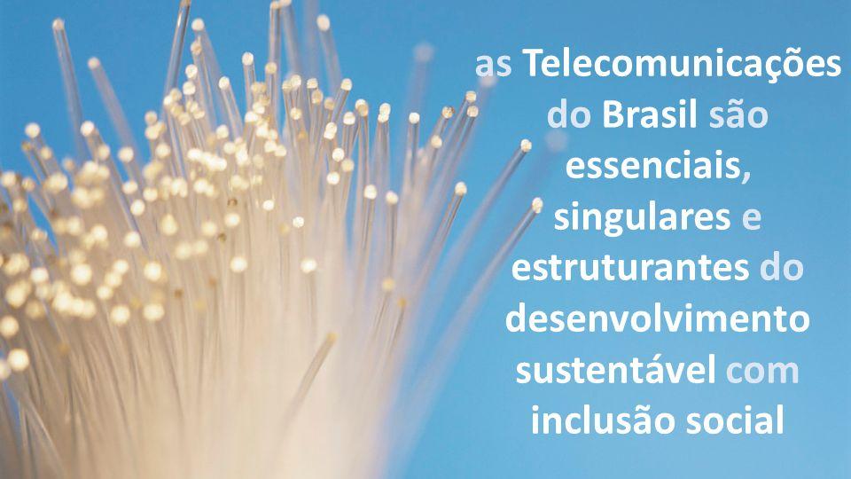 as Telecomunicações do Brasil são essenciais, singulares e estruturantes do desenvolvimento sustentável com inclusão social