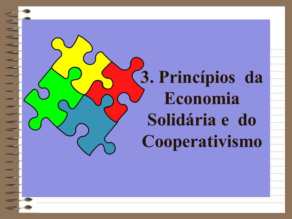 3. Princípios da Economia Solidária e do Cooperativismo