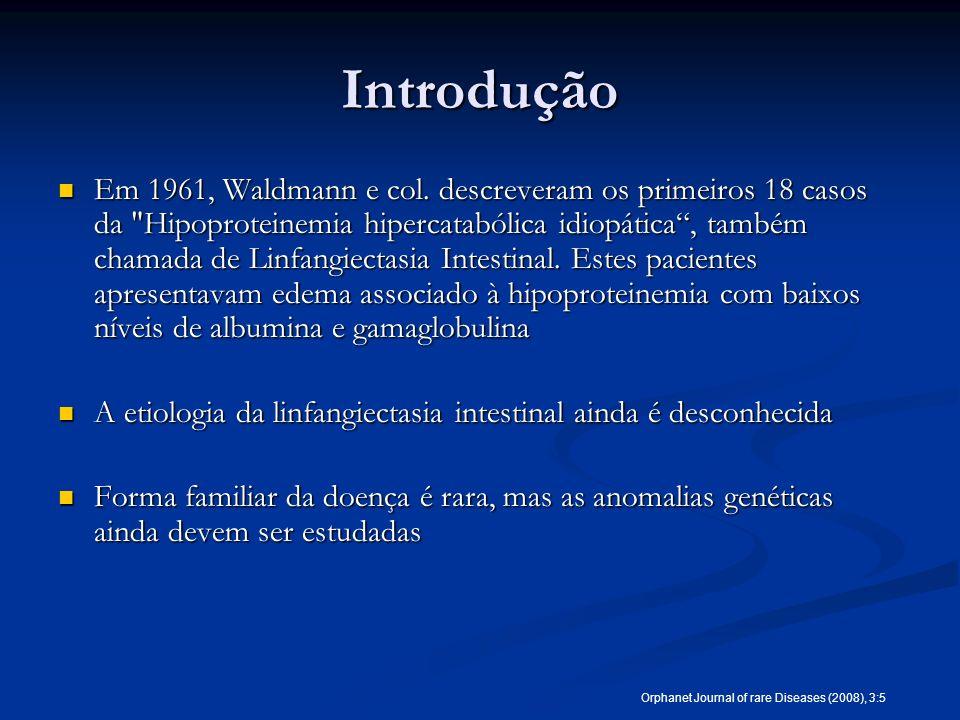 Introdução Em 1961, Waldmann e col. descreveram os primeiros 18 casos da