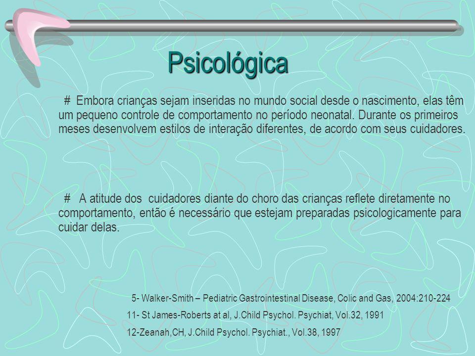 Psicológica Psicológica # Embora crianças sejam inseridas no mundo social desde o nascimento, elas têm um pequeno controle de comportamento no período