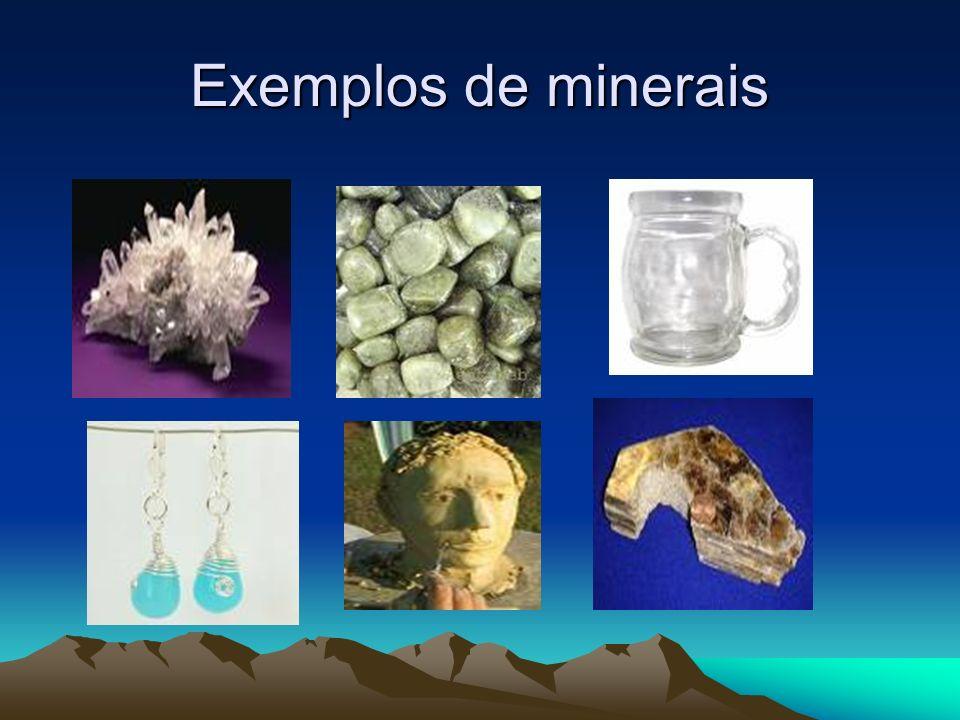 Exemplos de minerais