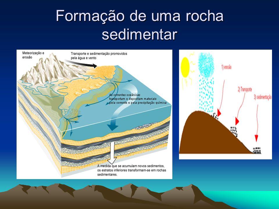 Exemplos de rochas sedimentares Arenito: forma-se a partir da desintegração do granito.
