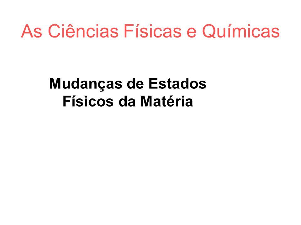 As Ciências Físicas e Químicas Matéria e seus Estados Físicos