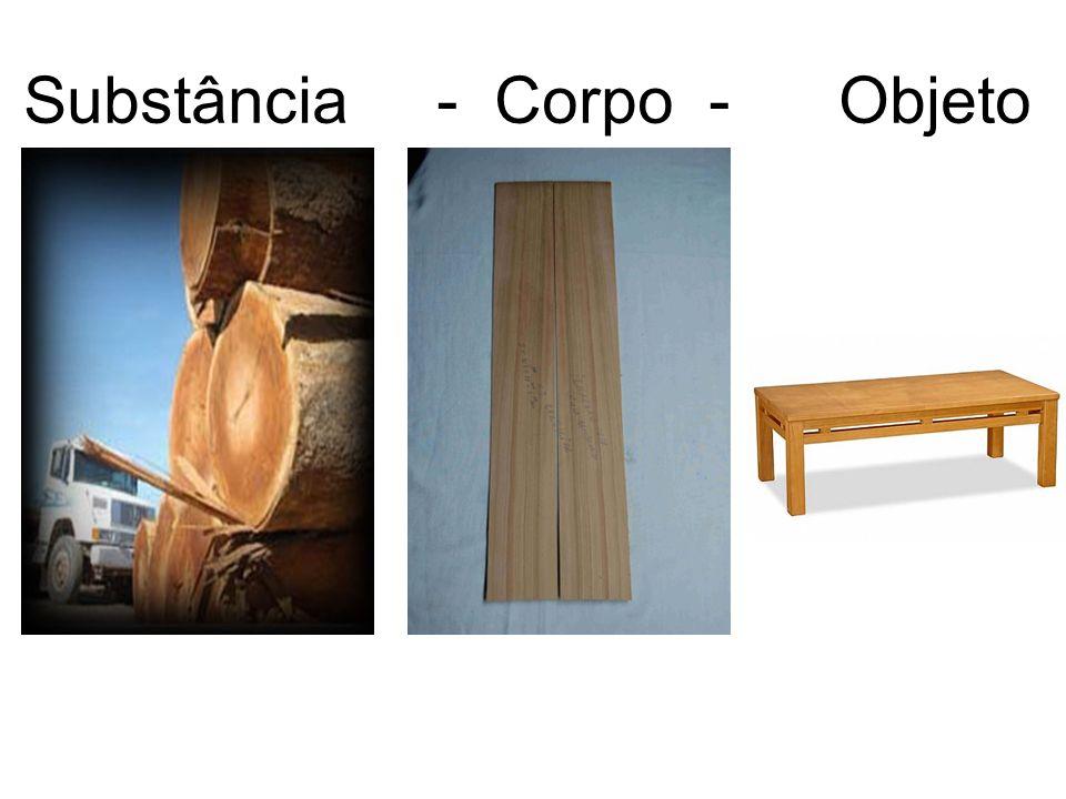 Substância - Corpo - Objeto