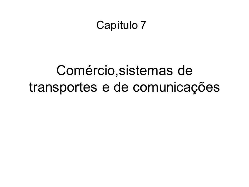 Comércio,sistemas de transportes e de comunicações Capítulo 7