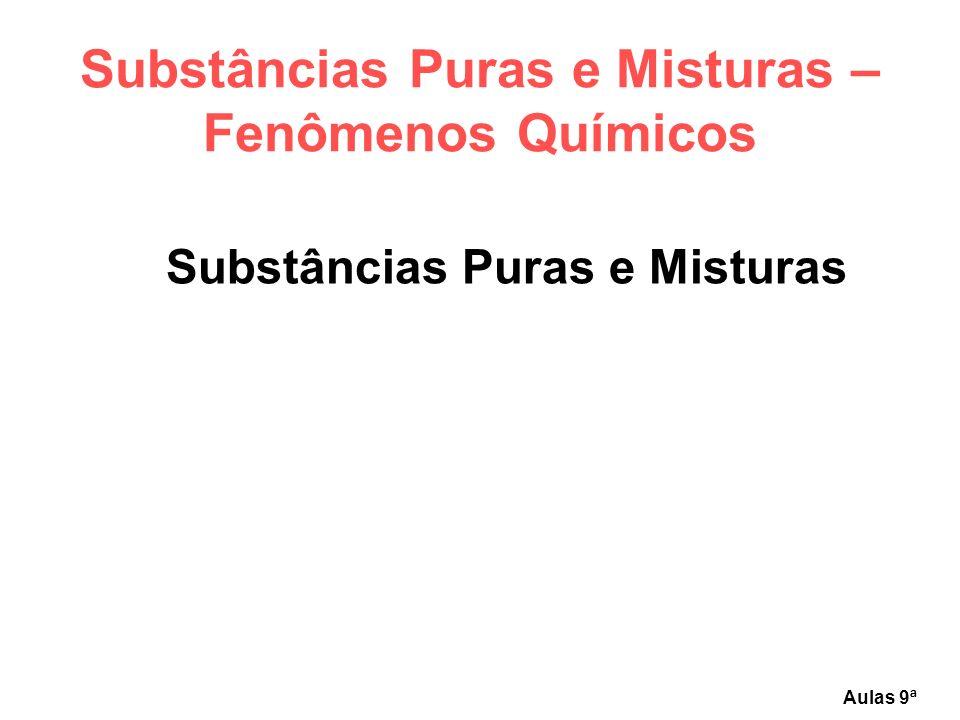 Aulas de Ciências 2010 - Química - Substâncias Puras e Misturas – Fenômenos Químicos Grupo 02 – Ação e Reação Mariluce Doria
