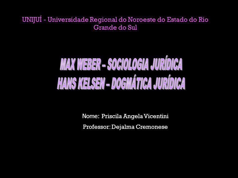 UNIJUÍ - Universidade Regional do Noroeste do Estado do Rio Grande do Sul Nome: Priscila Angela Vicentini Professor: Dejalma Cremonese