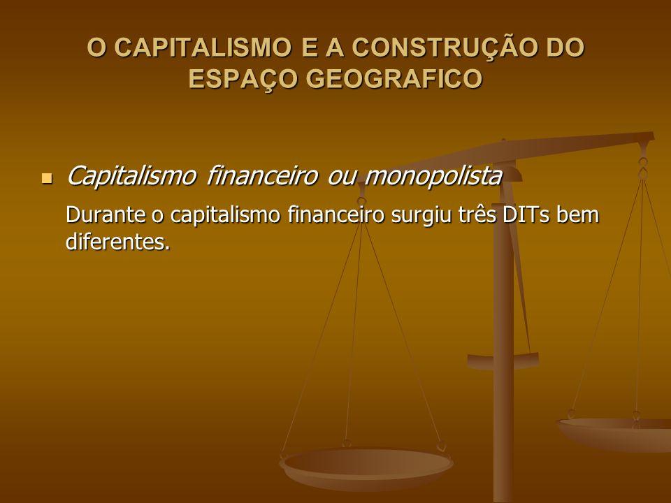 O CAPITALISMO E A CONSTRUÇÃO DO ESPAÇO GEOGRAFICO Capitalismo financeiro ou monopolista Capitalismo financeiro ou monopolista Durante o capitalismo fi