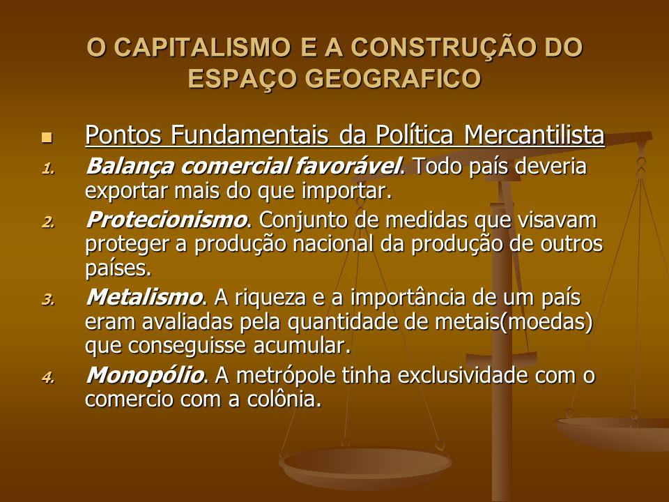 O CAPITALISMO E A CONSTRUÇÃO DO ESPAÇO GEOGRAFICO Pontos Fundamentais da Política Mercantilista Pontos Fundamentais da Política Mercantilista 1. Balan