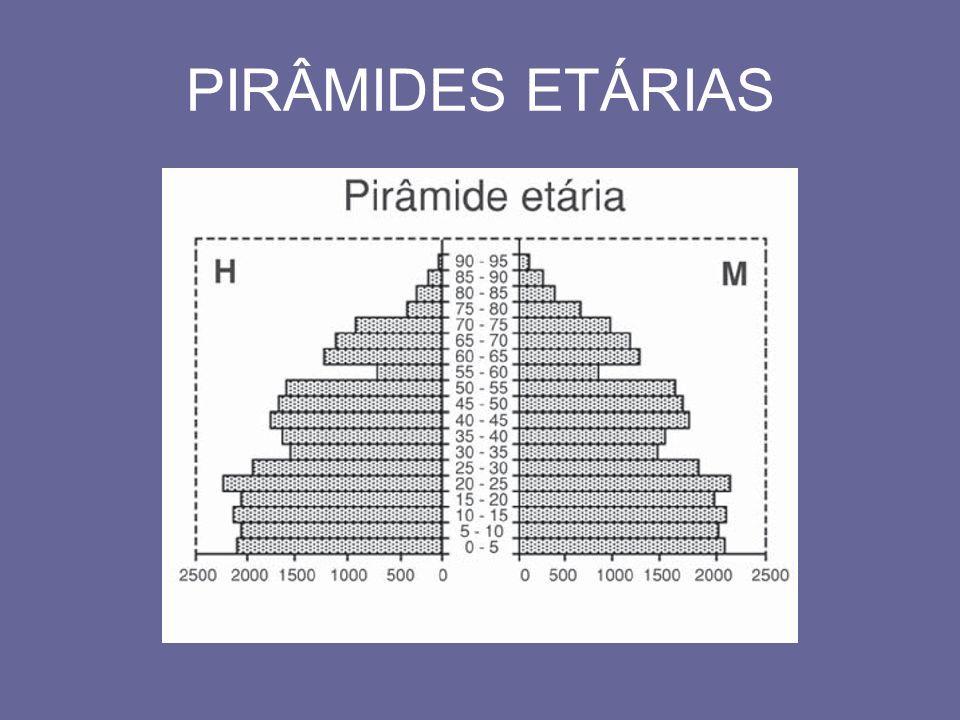 Normalmente, as faixas resultantes são divididas em três partes ou faixas etárias: População jovem: 0 a 19 anos.