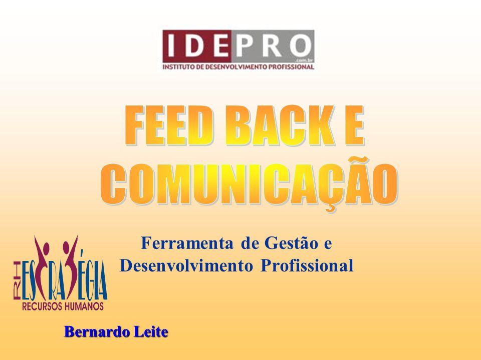 ROTEIRO DO FEED BACK 5- RESULTADOS: Este é o objetivo desta reunião.