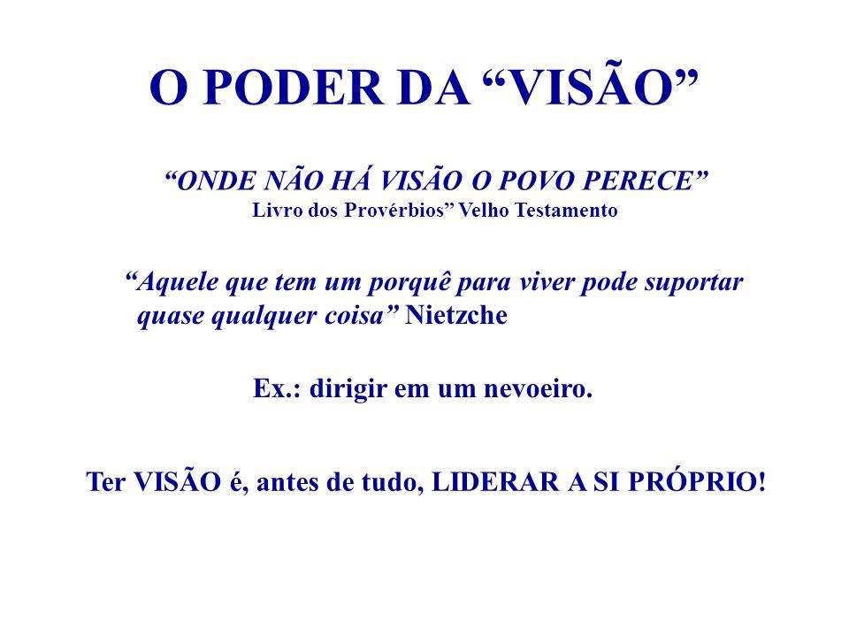 O PODER DA VISÃO ONDE NÃO HÁ VISÃO O POVO PERECE Livro dos Provérbios Velho Testamento Aquele que tem um porquê para viver pode suportar quase qualque