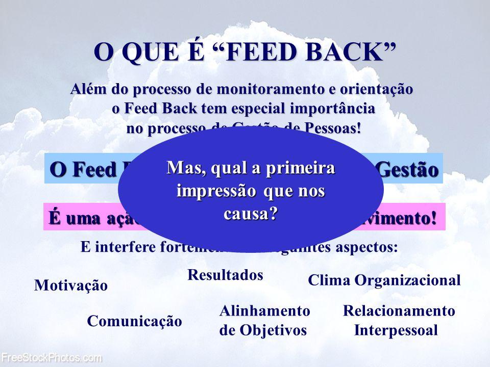 O QUE É FEED BACK É uma ação de Treinamento e Desenvolvimento! Além do processo de monitoramento e orientação o Feed Back tem especial importância no