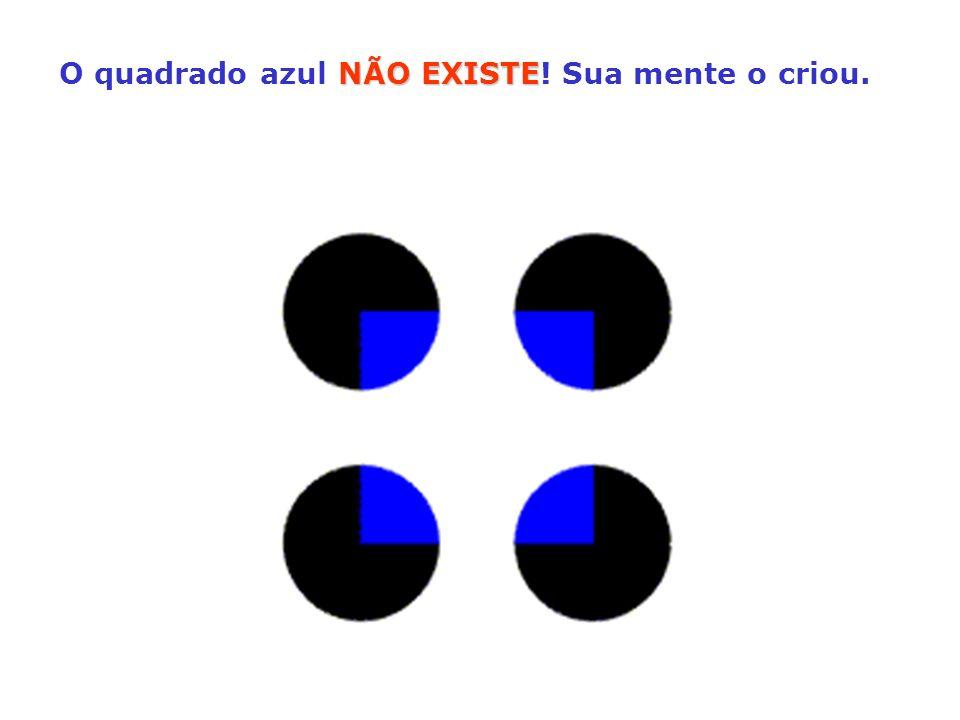 NÃO EXISTE O quadrado azul NÃO EXISTE! Sua mente o criou.