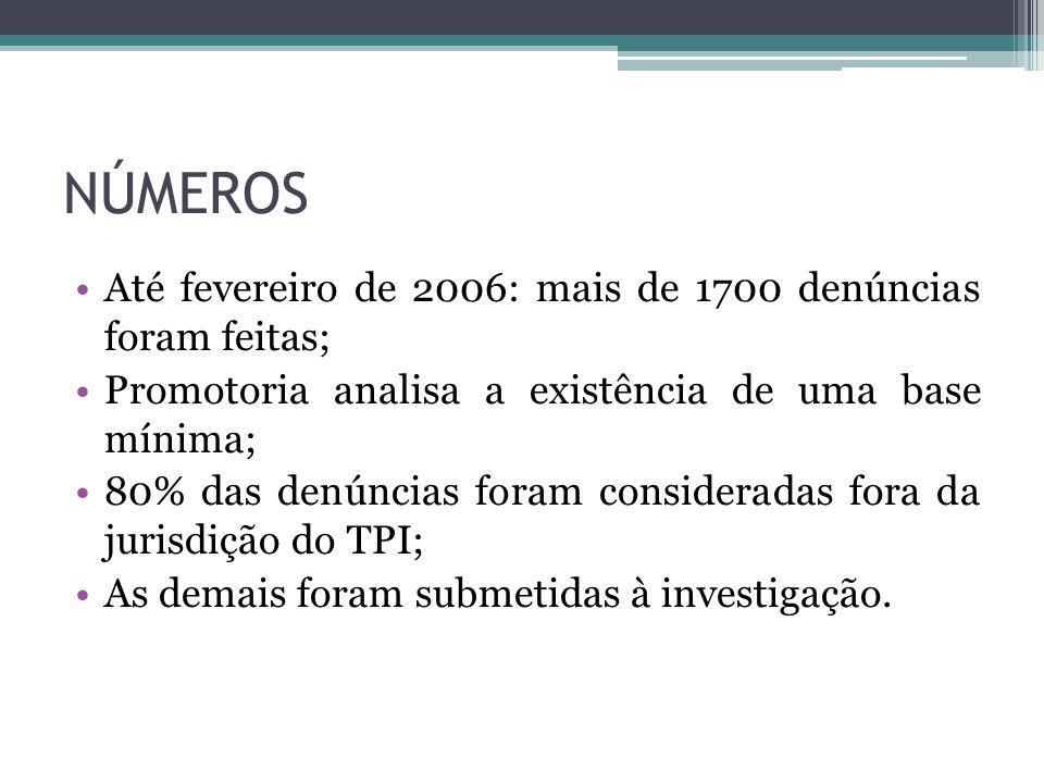 NÚMEROS Até fevereiro de 2006: mais de 1700 denúncias foram feitas; Promotoria analisa a existência de uma base mínima; 80% das denúncias foram consid