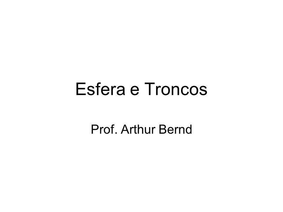 Esfera e Troncos Prof. Arthur Bernd